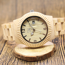 TJW 2017 Men Watch Handmade Bamboo wood Fashionable Water Resistant Male Wrist Watches