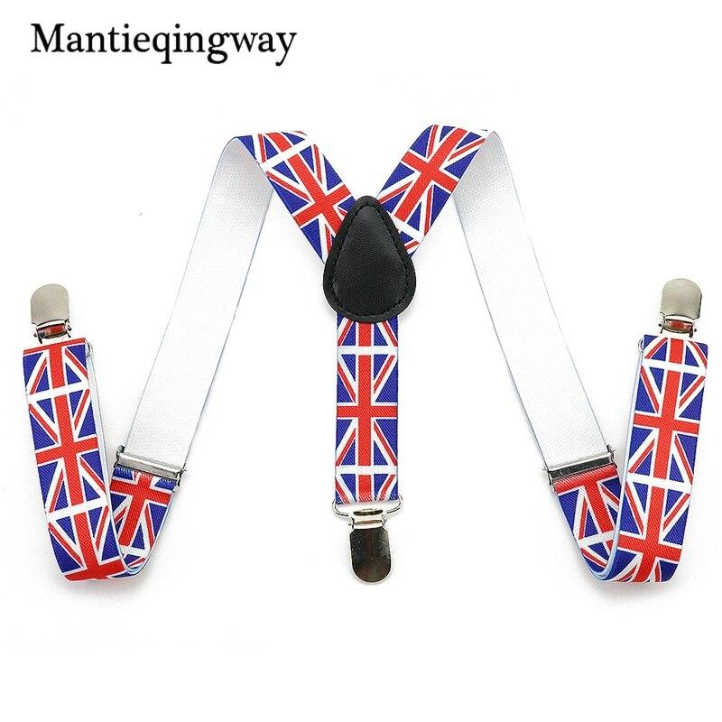 Mantieqingway Fashion Adjustable Flag Children 3 Clip-on Suspenders Baby Girl Braces Baby Boy Suspenders Suspenders For child