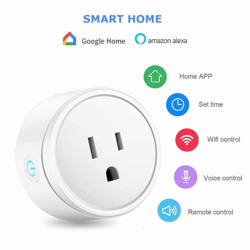 Inteligentna wtyczka inteligentne gniazdo WiFi zasilania monitora ue głos pilot zdalnego sterowania automatyki inteligentnego domu wtyczka działa z Google Alexa domu IFTTT