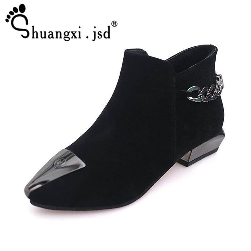 Shuangxi.jsd 2018 Winter Shoes Women Excellent Matte