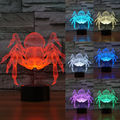 Creative LED 3D Lamp Spider Optical Illusion Decoration Night Lighting Desk Lamp Mood Lava Lamp Christmas Led Light