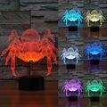 Lámpara de araña creativo led 3d decoración noche de la ilusión óptica lámpara de lava lámpara de escritorio iluminación estado de ánimo de navidad de luz led