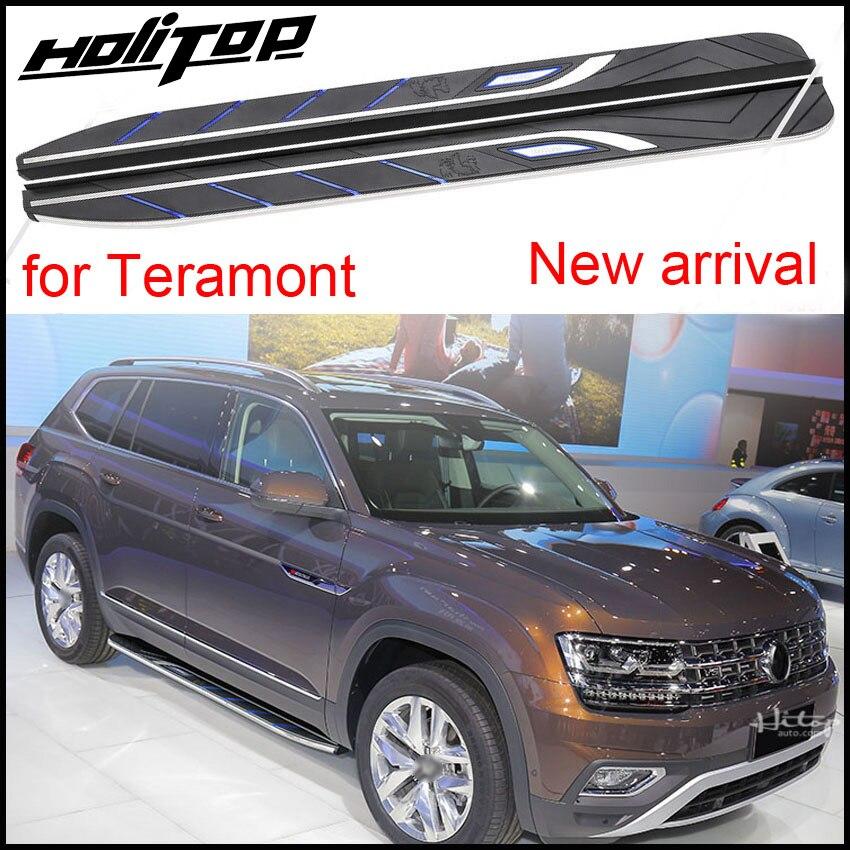 Nova chegada bar nerf estribo pés passo lateral para VW Volkswagen Teramont 2016-2018 +, ISO9001 qualidade, baixo preço para a promoção