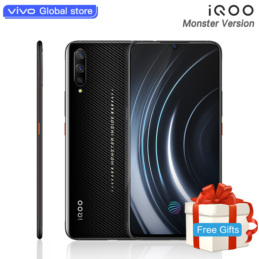 Monste Versão celular iQOO Telemóvel Snapdragon 855 NFC Tipo-C 4000 mAh 44 W Carga Rápida Legal 4D jogo de Smartphones