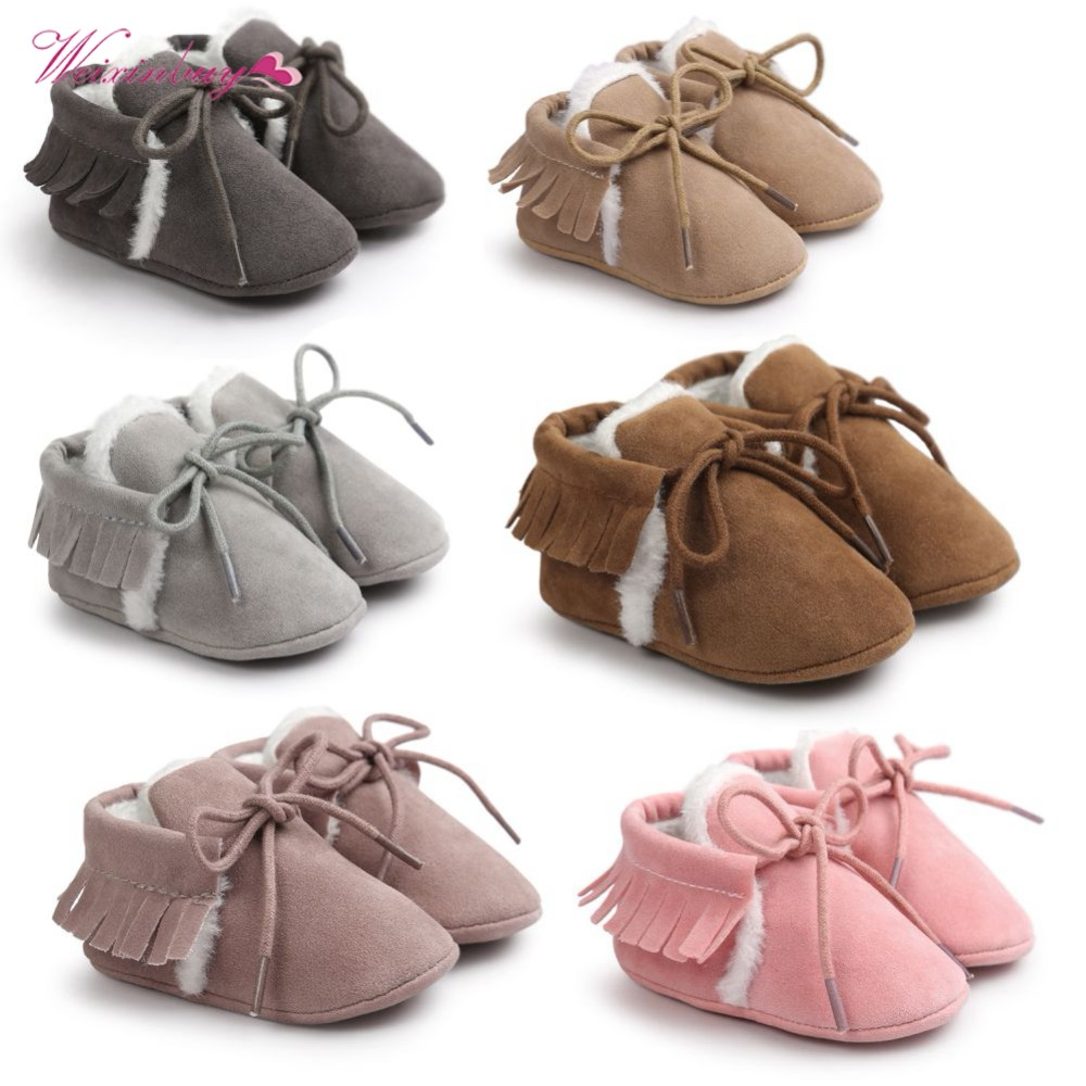 2018Baby First Walkers boys girls Cute Bear Baby Soft Tassel Toddler Shoes New Fashion Spring and Autumn Shoes