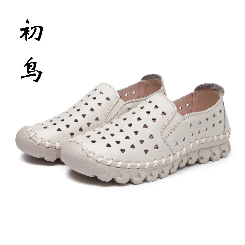 2017 Breathable Genuine Leather Loafers Women Flat Sandals Ladies Creepers Shoes Woman Espadrilles Chaussure Femme Summer Style цены онлайн