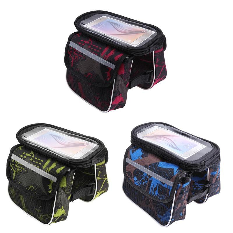 Wasserdichte Fahrrad Tasche Rahmen Vorne Kopf Top Rohr Radfahren Tasche Doppel IPouch Touchscreen Fahrrad Tasche Zubehör