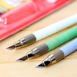 Hobby faca de aço com 12 pçs lâmina de reposição gravura caneta faca escultura artesanato ferramentas scrapbooking artigos papelaria material escolar 5015
