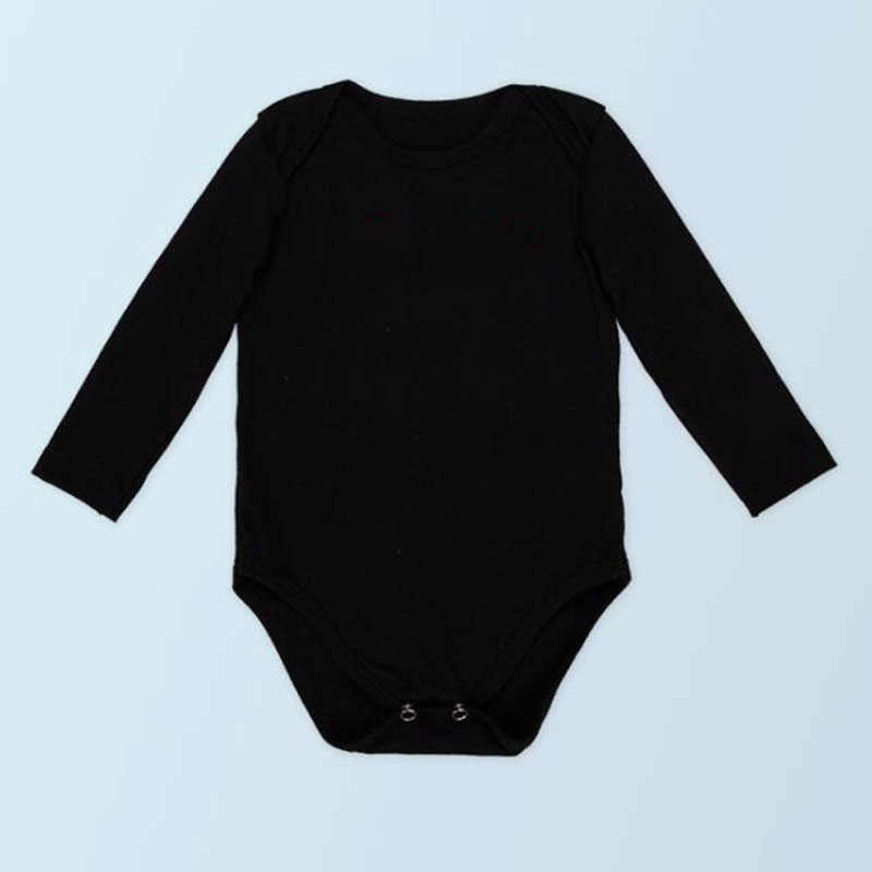 Chalecos de manga larga blancos y negros lisos para Bodysuits ropa de bebé niña Body Macacao Bebe monos para niños mono ropa infantil