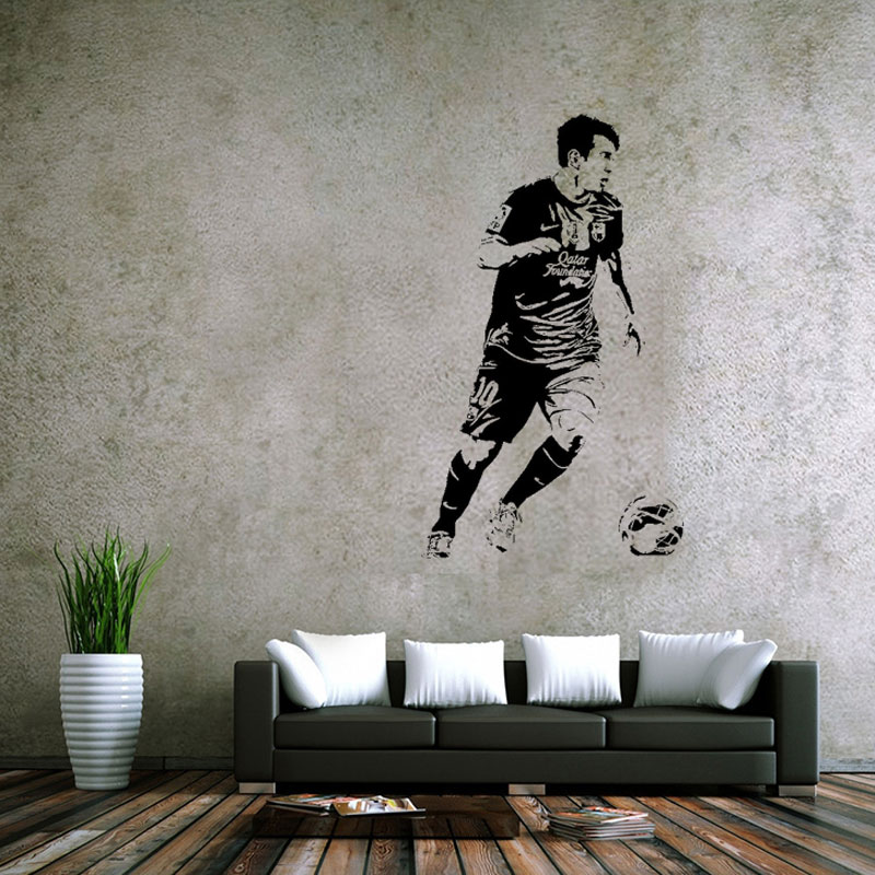 soccer stars SPORT GYM poster  home decoration decal vinyl wall - Home Decor
