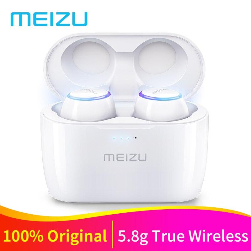 D'origine Meizu POP TW50 Vrai Sans Fil Bluetooth Écouteurs Mini Sport Bluetooth 4.2 In-Ear Écouteurs Casque Micro Sans Fil De Charge