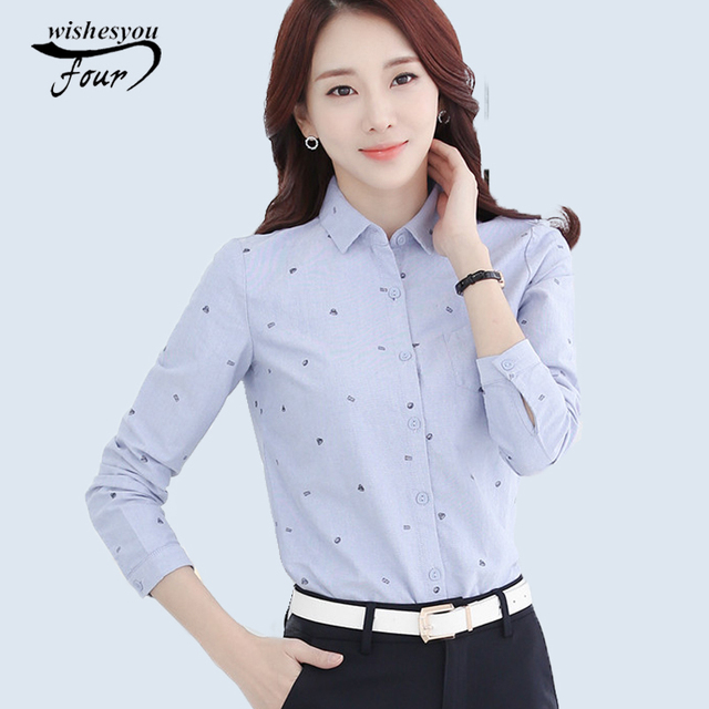 Aliexpress.com : Buy 2017 New fashion Style Lady White Shirts ...