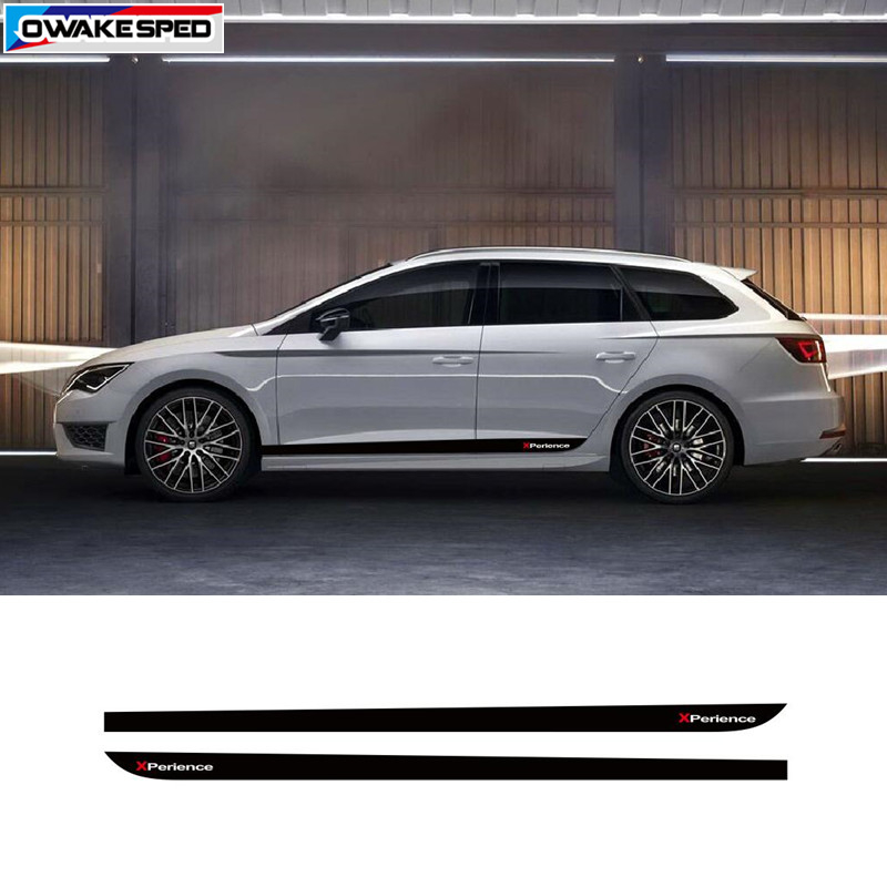 Car Styling Door Side Stripes Auto Body Decor Stickers X Perience Sport Vinyl Decal For Seat Leon 5 Doors 2013 2014