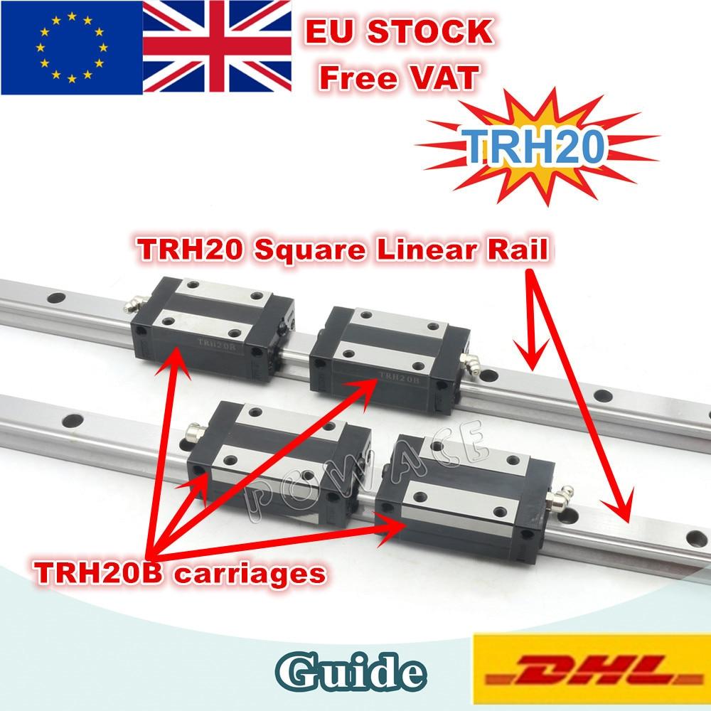 EU Free VAT TRH20 Square Linear guide Rail 400 500 600 800 1200mm for CNC