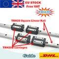 [ЕС Бесплатный НДС] TRH20 квадратный линейный направляющий рельс 400/500/600/800/1200 мм для фрезерного станка с ЧПУ + TRH20B Квадратный Блок каретки
