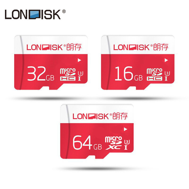 Londisk 2016 New Arrival 16GB 32GB 64GB Memory Card Micro SD Card 64GB Flash Cards SDXC Microsd UHS-3 for Smartphone
