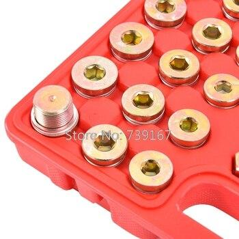 114pc Öl Pan Ablauf Stecker Gewinde Reparatur Ersetzen Werkzeug Sumpf Getriebe Reparatur Werkzeug Set Für Auto Motorrad M13 M15 M17 M20 M22 ST0290