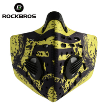 ROCKBROS Cycling Bike Bicycle Face Cover Activated Carbon Haze Anti-dust Filter Breathable Protection Mouth-Muffle Dust Mask
