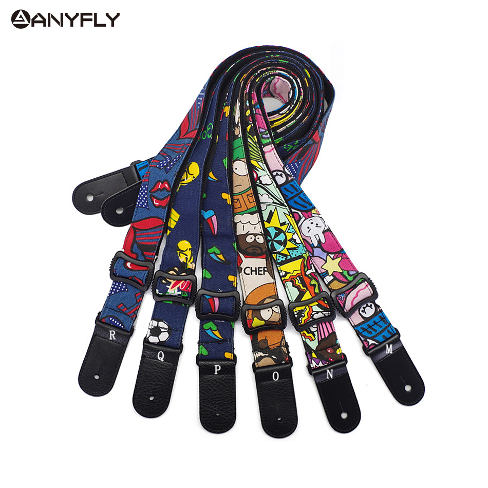 2016 New Hawaii Guitar Ukulele Guitar 100% Cotton Cartoon strap Belt Adjustable Leather End Wholesale Musical Accessories guitar straps cotton belt for small guitar ukulele vertical stripes classic style 11 colors thicken 2016 new arrival best price