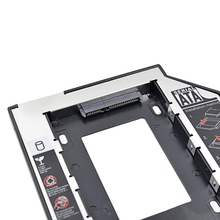CHIPAL 2nd HDD Caddy 9.5mm SATA 3.0 2.5″ SSD Case Hard Disk Drive Enclosure with LED for Notebook CD/DVD-ROM / Plastic Aluminum