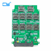 10 ports Micro SD TF Memory Card to SATA SSD Adapter with RAID Quad 2.5 Inch SATA Converter