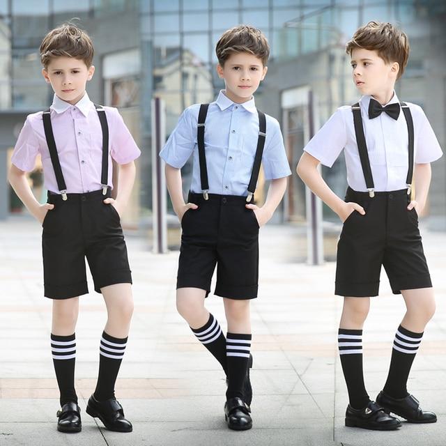 05fff70479 Children s Dresses Children s Performance Shorts Shorts Tie Set Students  Chorus Dresses Boy Dresses 2pcs   sets