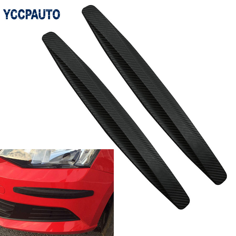 Car Bumper Protector Strips Guard Corner Anti collision Protective Trim bar Black White Grey Car Accessories 2pcs-in Styling Mouldings from Automobiles & Motorcycles