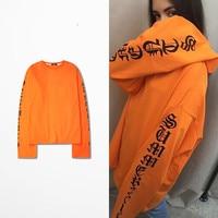 Skateboard T Shirt Harajuku Gothic Letters Long Sleeve T Shirt Men Hip Hop T Shirts Kanye