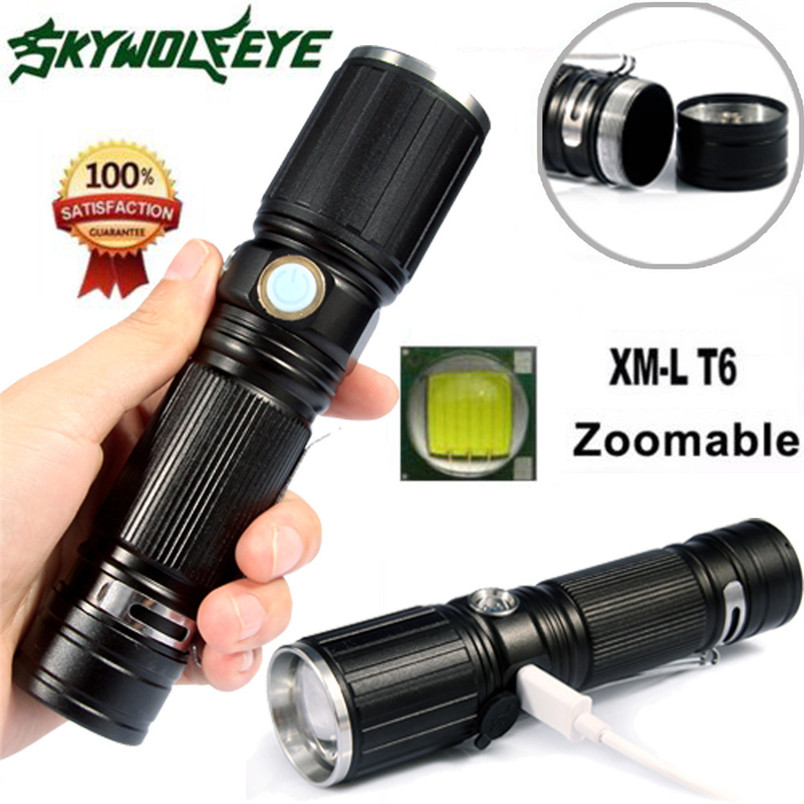 2017 XML T6 LED Flashlight 18650 Battery+USB Rechargeable+Side Red LED Lights wholesales NOM19 sitemap 25 xml