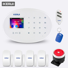 KERUI Home Security Alarm System W20 GSM WiFil Connection 2.4 inch TFT Touch Panel APP Control RFID Card Wireless Smart