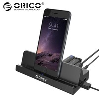 ORICO SH4C2 USB3.0 HUB with Docking Station 4 USB3.0 1 Super Charger 1 Universal Charging Port with Stand for Surface Black
