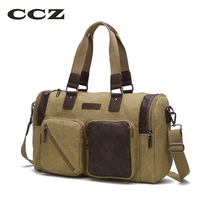 CZZ Canvas Travel Bag Mens Crossbody Bag Luggage Bags For Men Canvas Messenger Bags Big Capacity
