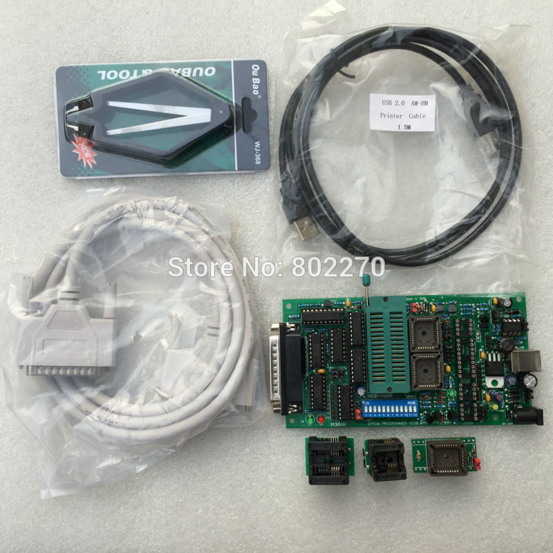 New EPROM BOIS PIC Univeral Willem Programmer PCB5.0B USB Powered Include SOP8 Adapter And DIP28-PLCC32 Adapter