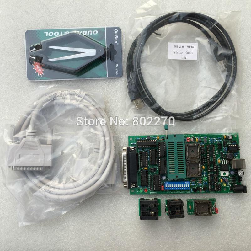 Yeni EPROM BOIS PIC evrensel Willem programcısı PCB5.0B USB powered dahil SOP8 adaptörü ve DIP28-PLCC32 adaptörü