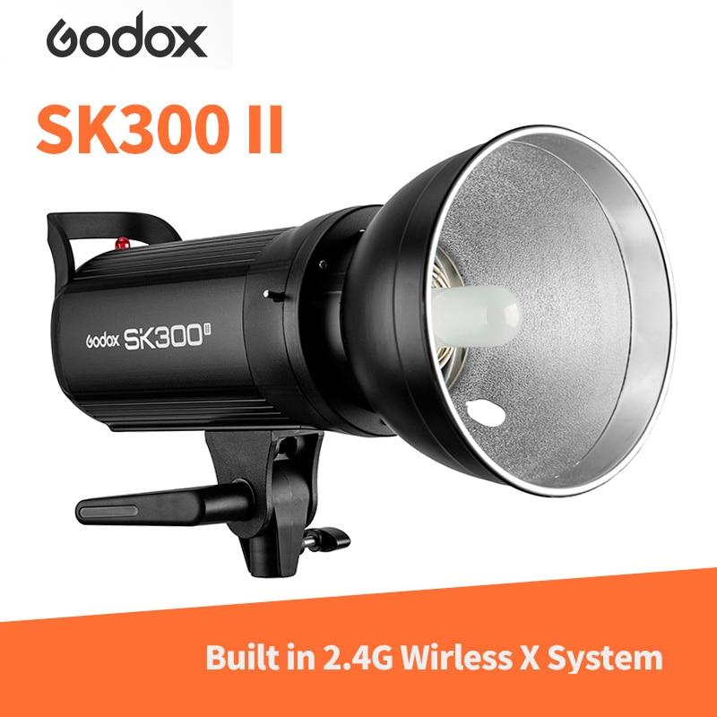 Godox SK SK300II SK300 II 110V 220V 5600K 300WS GN58 Professional Studio Strobe Power Mini Studio Flash Light Lamp sk ii sk ii color