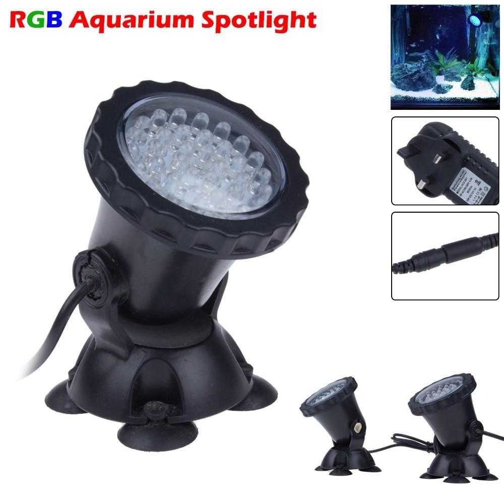 4 в 1 36 LED RGB Открытый Погружные Подводные лампы пятно света для воды сад аквариума пруд фонтан аквариум светодиодное освещение