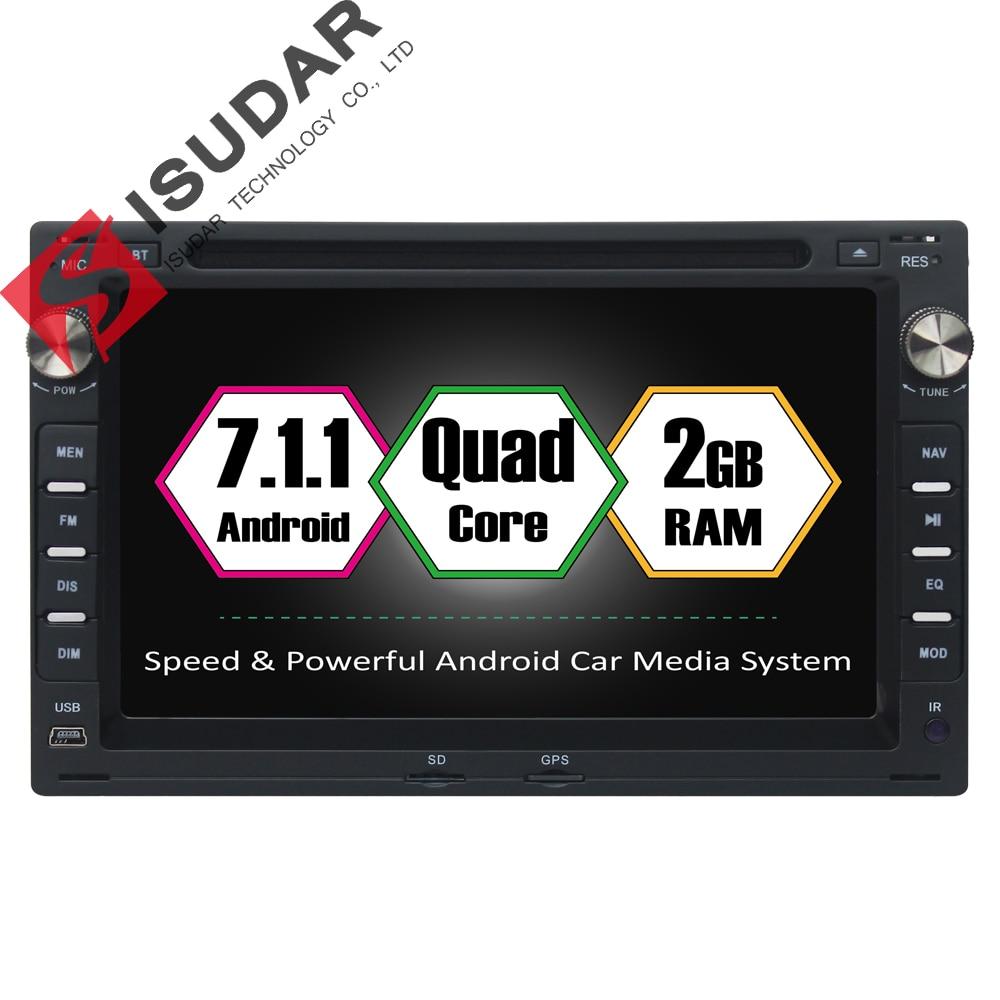 imágenes para Android 7.1.1 Dos Din 7 Pulgadas de Coches Reproductor de DVD Multimedia Para VW/Volkswagen GOLF/POLO/Passat/TRANSPORTER Wifi GPS de Navegación de Radio