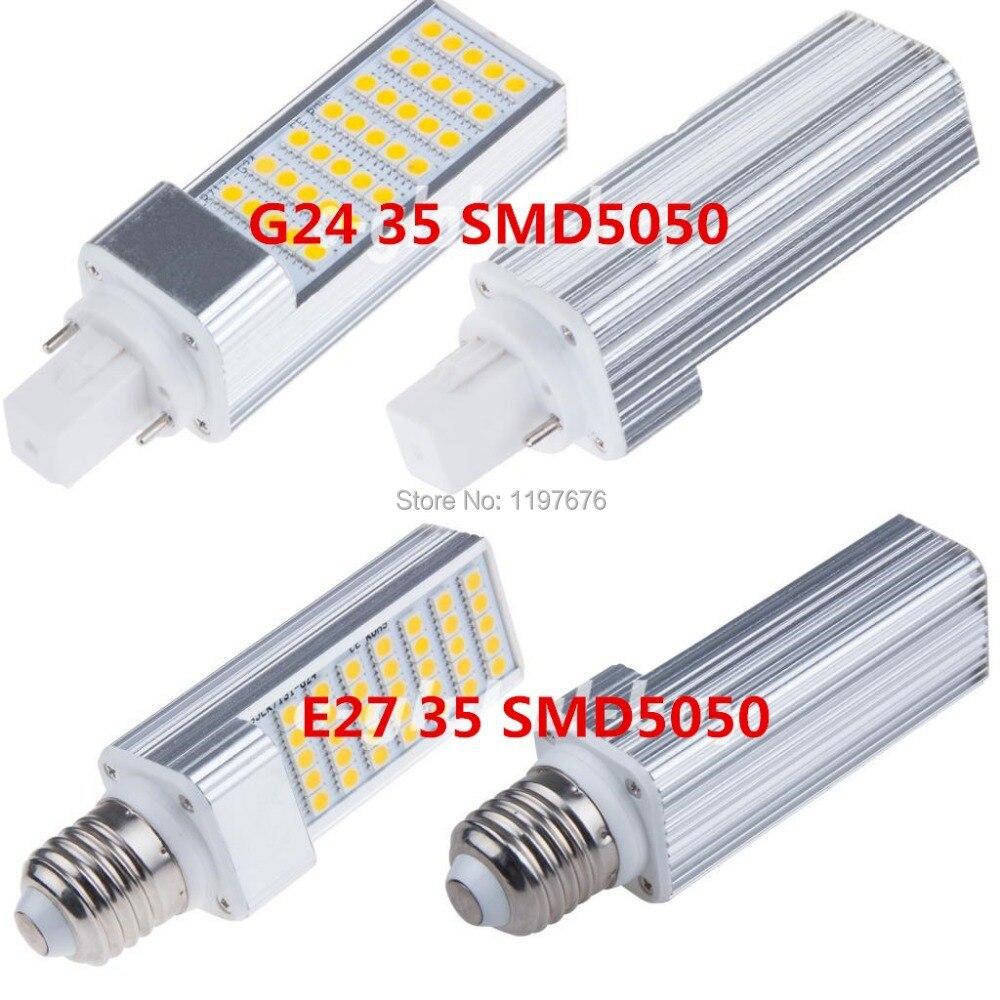 Ultra bright LED bulb 7W Corn Lights G24 220V Cold White light LED ...