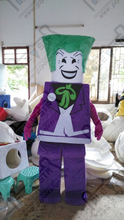 LEGO mascot costumes  purple man mascot costumes green hair funny costumes toys show costumes