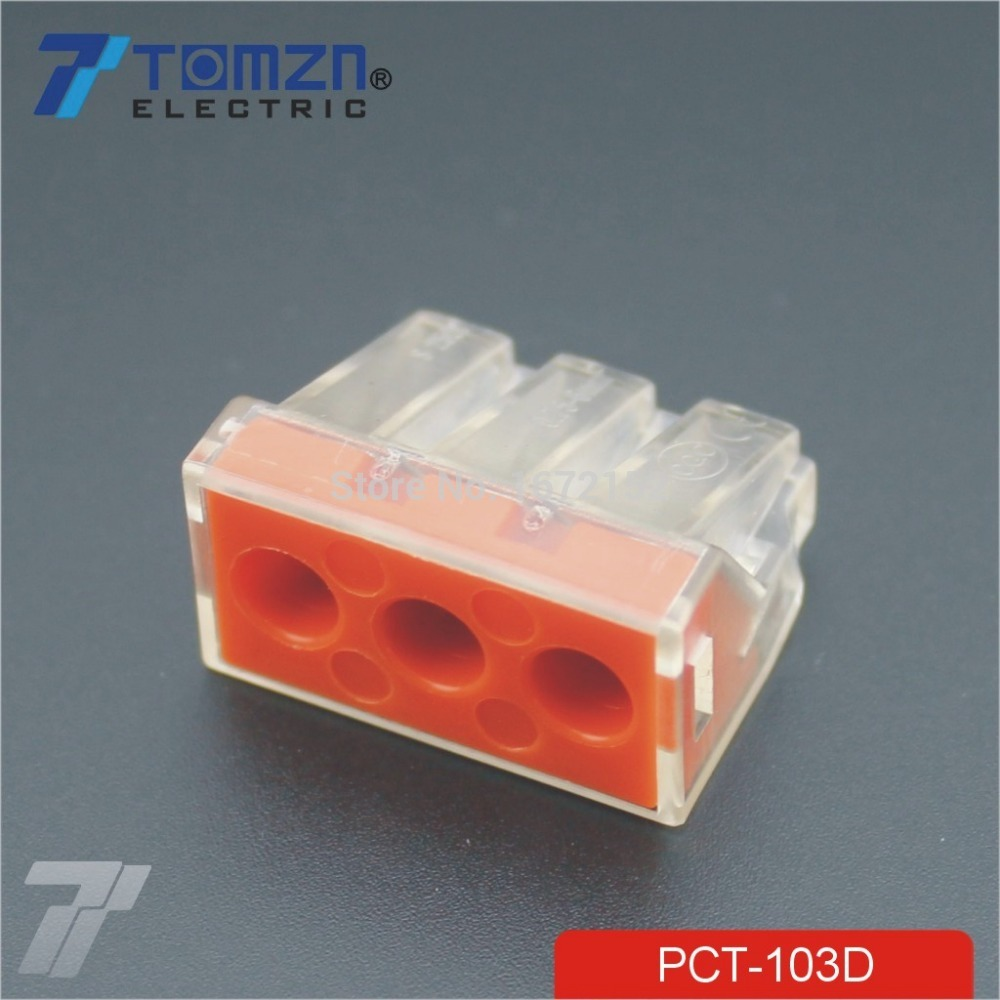 20 pcs PCT 103D Push wire wiring connector For Junction box 3 pin ...