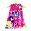 Crianças meninas vestem roupas bonitos dos desenhos animados, encantador meninas do bebê meu pequeno pônei vestido ropa de ninas infantis de menina vestido infantil