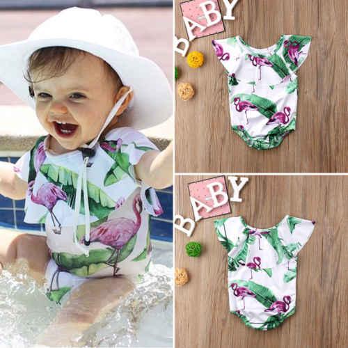 2bd47020f4aed 2018 Brand New Toddler Infant Kids Baby Girl Swimsuit Romper Bikini Bathing  Beachwear Outfits Children Summer Swimwear 6M-4T