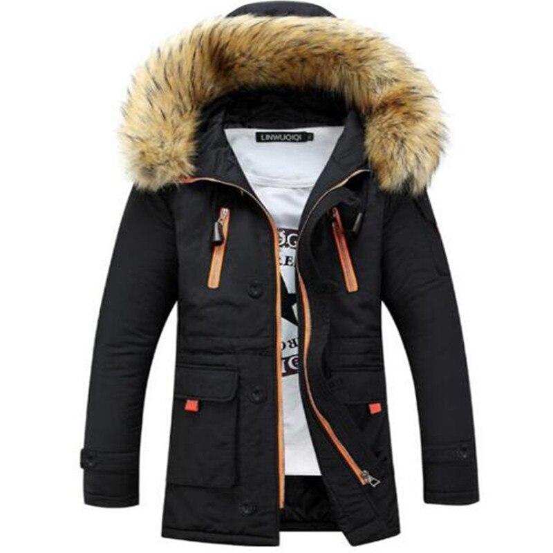 Hiver Veste Hommes Manteaux Coupe-Vent Outwear Manteaux Ouatée Manteau Hommes Zipper Vestes Homme Vêtements Chauds Livraison Gratuite 3XL