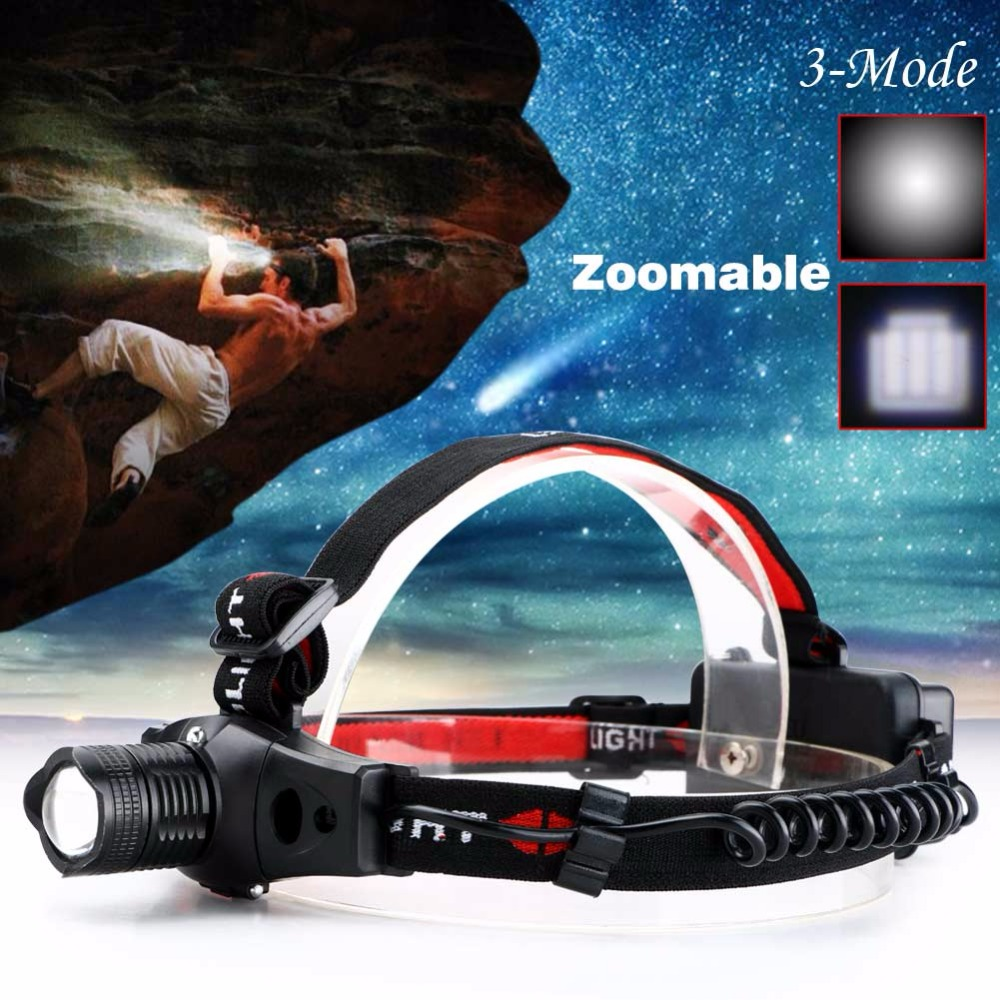 New High Quality Adjustable Focus 2000 Lumens CREE R5 LED Headlamp Head Light For 18650/AAA