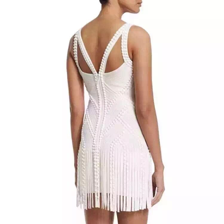 High Fashion Bleu Blanc 2016 Sexy Bandage Femmes Noir Rose Dress Gros New B5q7A7