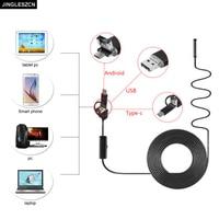 JINGLESZCN 3 In 1 8mm USB Endoscope Inspection Borescop Camera 1M 1 5M 2M 3 5M