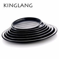 Multi Function Classical Oval Serving Plate For Restaurant Hot Sale Cheap Plastic Dish Many Sizes For