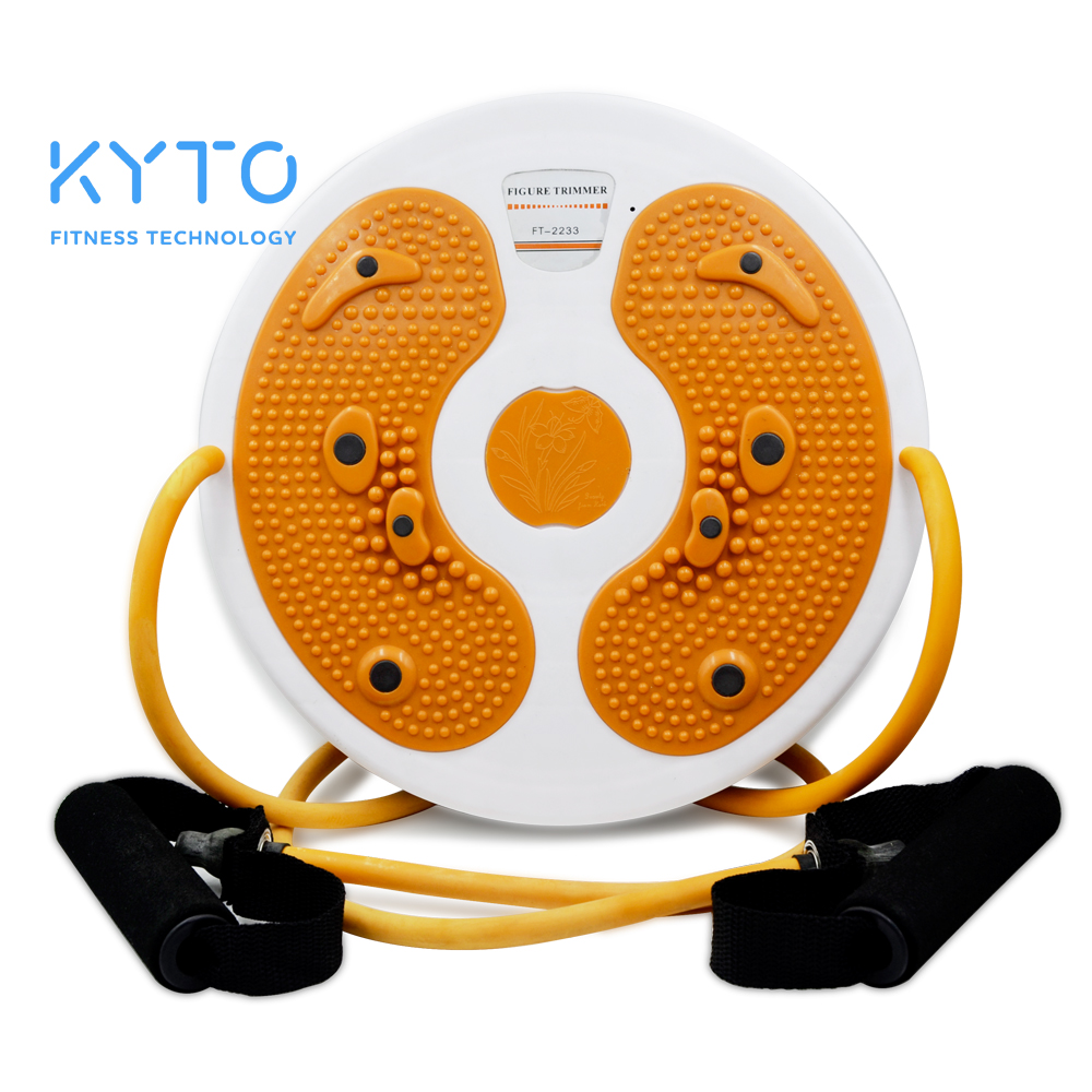 KYTO Waist Twist Board With Belt Fitness Wobble Balance Board Figure Trimmer Rehabilitation Muscle Training Exercise Equipment