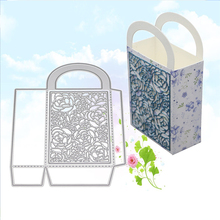 Gift Box Bag Metal Cutting Dies Stencils for DIY Stamp Scrapbooking Bowknot Bows Cards Making Embossing Plate