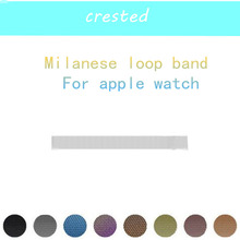 CRESTED Milanese Loop Strap & Link Bracelet Stainless Steel strap For Apple Watch band 42 mm/38 serise 1 2 3 Bracelet wristband